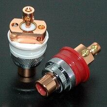 Haut de gamme 4 pièces gaofei GF RED01 en laiton RCA femelle prise Phono châssis femelle HIFi audio ampli
