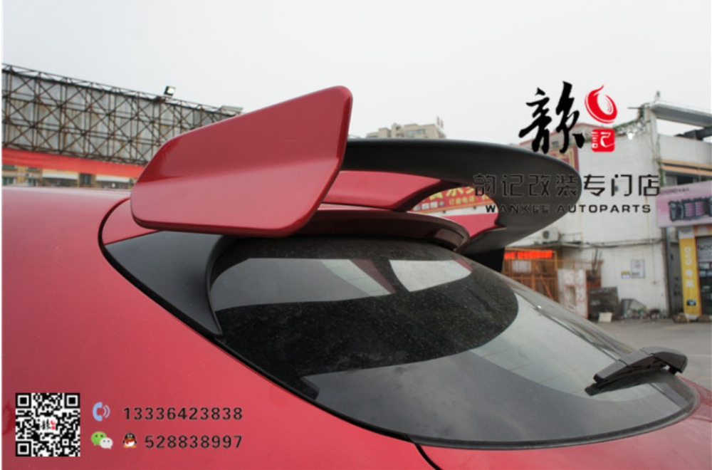 Auto <font><b>Spoiler</b></font> For <font><b>Mazda</b></font> <font><b>3</b></font> AXELA Hatchback 2014 2015 2016 2017 <font><b>2018</b></font> 2019 High Quality ABS Rear Wing <font><b>Spoilers</b></font> Trunk Lid Diffuser image