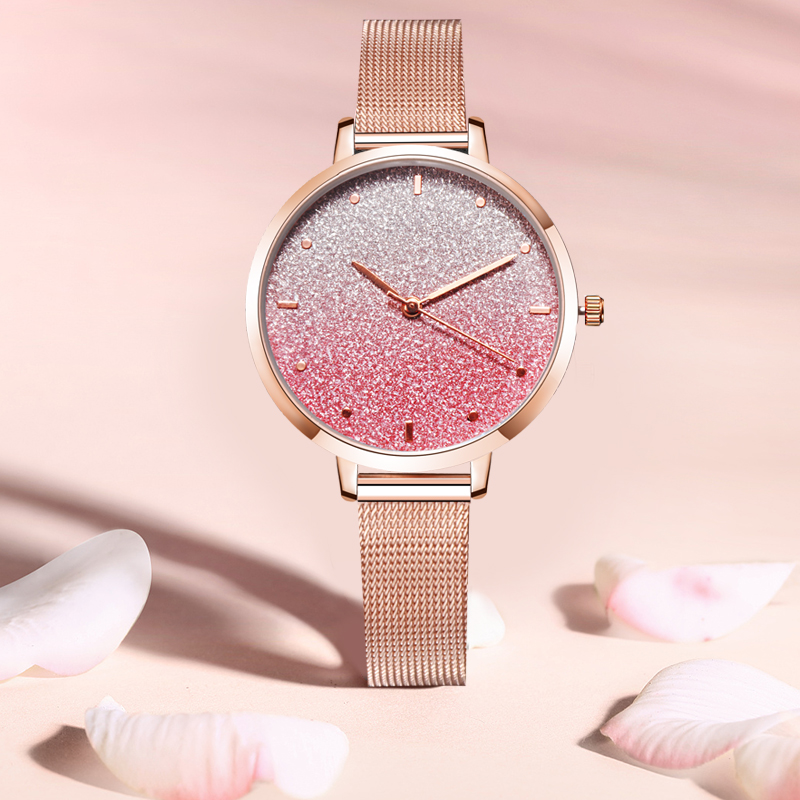 2020 New Montre Femme Women Watches Fashion Luxury Starry sky Mesh Ladies Watch Women zegarki damskie reloj mujer Dropshipping 2