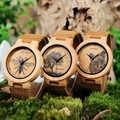 BOBO BIRD LP20 hommes Montre-bracelet mode bambou Quartz Montre Homme squelette libellule animaux Montre hommes