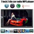 7 ''2 DIN HD Сенсорный Экран Универсальный В Тире Автомобильный Радиоприемник стерео Автомагнитолы MP3 MP4 Bluetooth Авто громкой TF/USB для iPhone