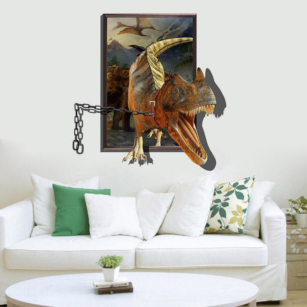 Large Dinosaur Wall Decals PromotionShop For Promotional Large - 3d dinosaur wall decals