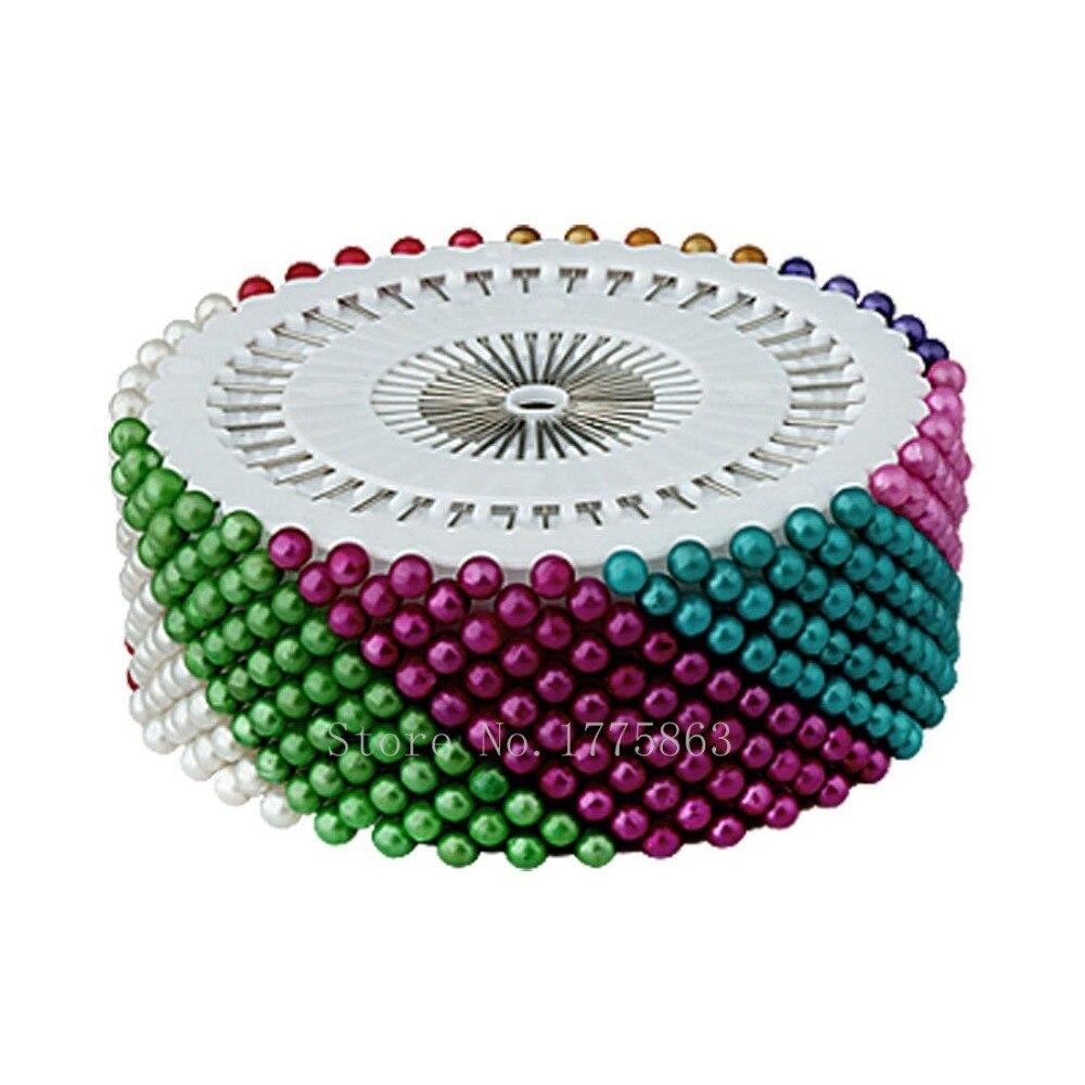 480 PCS 1.5 Coloré Perle Ronde Tête Droite Pins, Couture Couture Pin Artisanat Outil AA7504