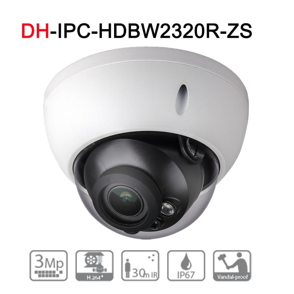цена на DH IPC-HDBW2320R-ZS Original English Version 3MP IR Dome Network Camera upgrade with POE Security CCTV Camera 2.7-12mm VF lens