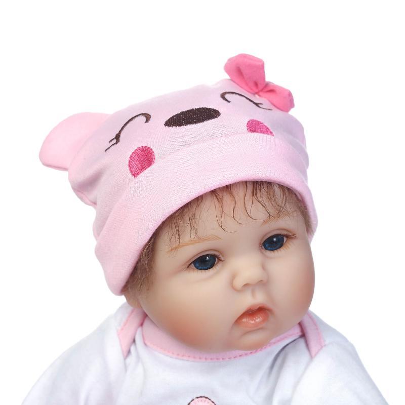 Nicery 16 18 дюймов 40 45 см Bebe Кукла Reborn Мягкая силиконовая игрушка для мальчиков и девочек Reborn Baby Doll подарок для детей розовый медведь прекрасный - 4