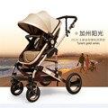 Baby stroller store ORIGINAL BUGGY PRAM STROLLEY CANOPY EUROPEAN LIGHTWEIGHT TRAVEL LIGHT STROLLER high chair top stroller