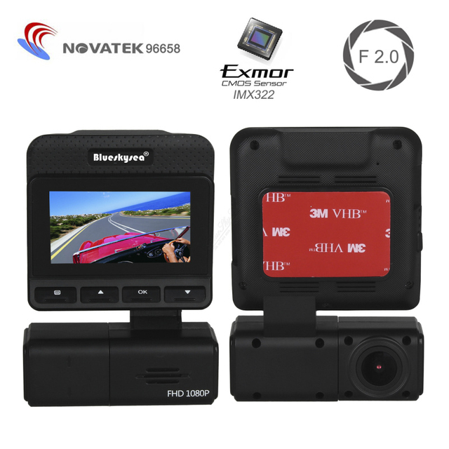 M8 Rotatable Lens Slim Design HD 1080P Car Dash Camera Video DVR Night Vision