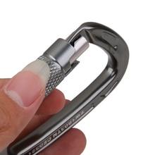 Outdoor 24KN Aluminum D Carabiner Auto Locking Rock Climbing Gear Equipment Hook