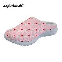 doginthehole Sandals Men Outdoor Italian Greyhound Hearts Love Dog Printing Clogs for Women Summer Mesh Slippers Lightweight New