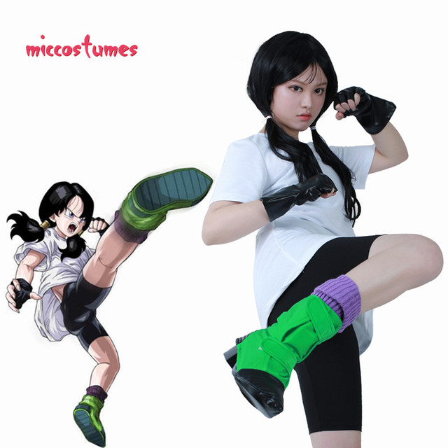 Videl Cosplay Costume with Gloves and Shoe Covers 1