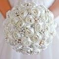 Бесплатная доставка Кот розы свадебный брошь букет Невесты Свадьба Ювелирные Изделия Перлы Rhinestone ткани Букеты
