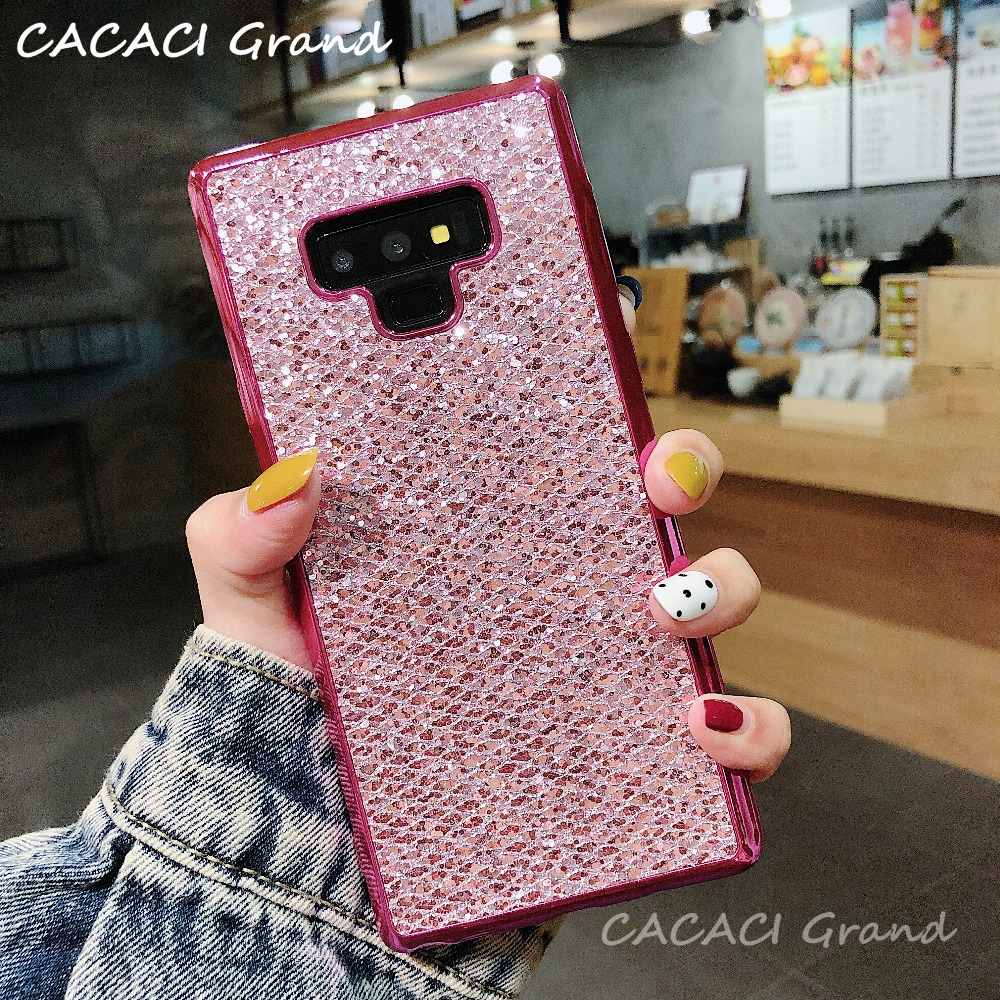 Girl TPU Bling Glitter Case for Samsung Galaxy A7 2018 A750F Plating Cove for Samsung A8 A6 Plus J4 J6 Pro Plus J8 A9 2018 case