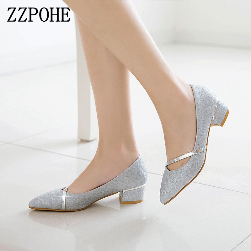 2018 Spring Fashion Women Pumps Pointed Toe High Heels Office Lay Shoes Female Handmade Shoes Women Slip On Footwear Work Shoes 2018 spring pointed toe thick heel pumps shoes for women brand designer slip on fashion sexy woman shoes high heels nysiani