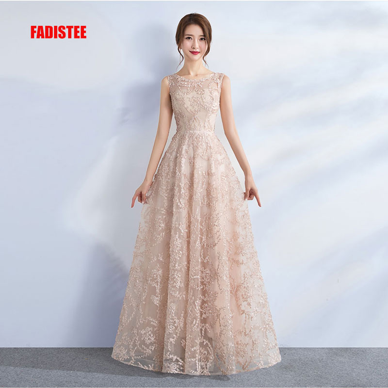 FADISTEE New Arrival Party Elegant Evening Dresses Prom Dress Lace See Through Back Robe De Soiree Sleeveless A-line Longstyle