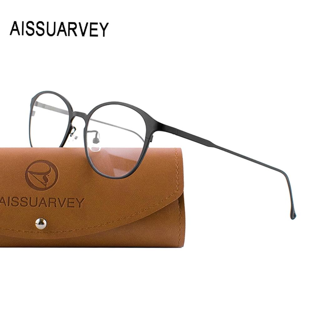 Titane pur lunettes cadres pour hommes femmes lunettes optiques lunettes de mode marque Designer Prescription lentilles claires rondes