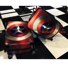 24 INCH 202428# United States captain shield Trolley Case universal wheel PC travel luggage men and women board chassis business