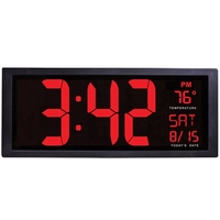TOP! Large Screen Big Electronic Wall Clock Desktop Led Digital Calendar Clock Thermometer Daylight Saving For Kitchen Clock M