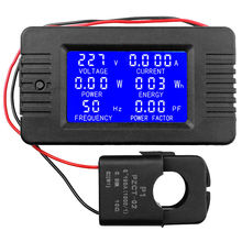 AC 80-260V 100A Voltage Current Power Factor Energy Frequency Combo Panel Meter 110 220v digital tube ac 80 260v 100a 22kw 9999kwh power meter energy voltage current shell 4 panel transformer usb wire