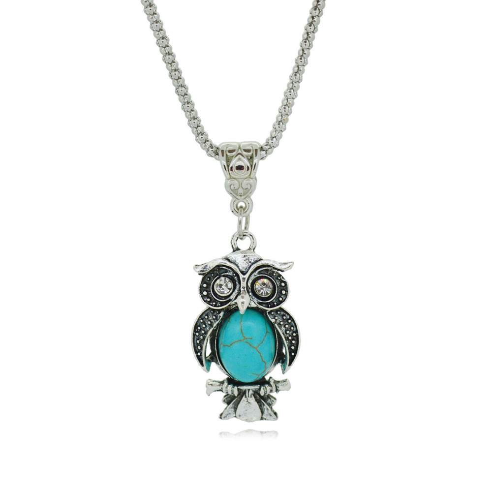 Special Owl Necklaces Silver Pendant Accessories for Women Clothing Women's Vintage Style