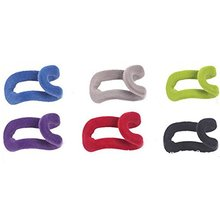 12pcs Novelty Anti-slip Mini Flocking Clothes Rack Hanger Hooks (Random Color)