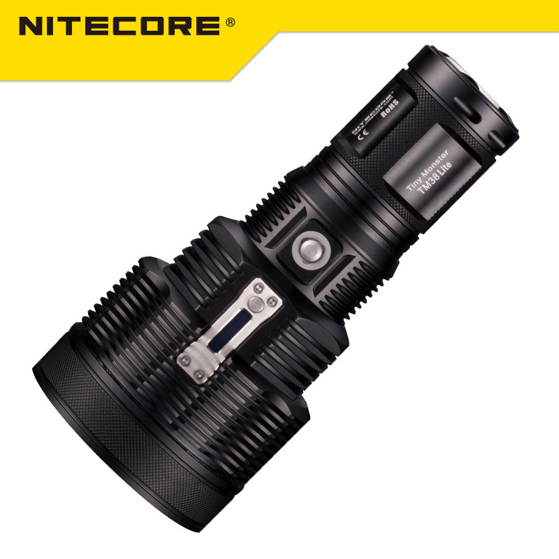 Original Nitecore TM38 Lite Tiny Monster CREE XHP35 HI D4 1800 Lumen Long Throw Rechargeable LED Flashlight by 18650 Battery