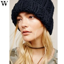 d6bf0470455 Trend Winter Keep Warm Manual Wool Knitted Earmuffs Hats Girls Caps For  Women French Style Wool