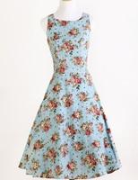 Candow Look Women S Rose Floral Print Hippie Bohemian 40 S 60 S Vintage Robe De