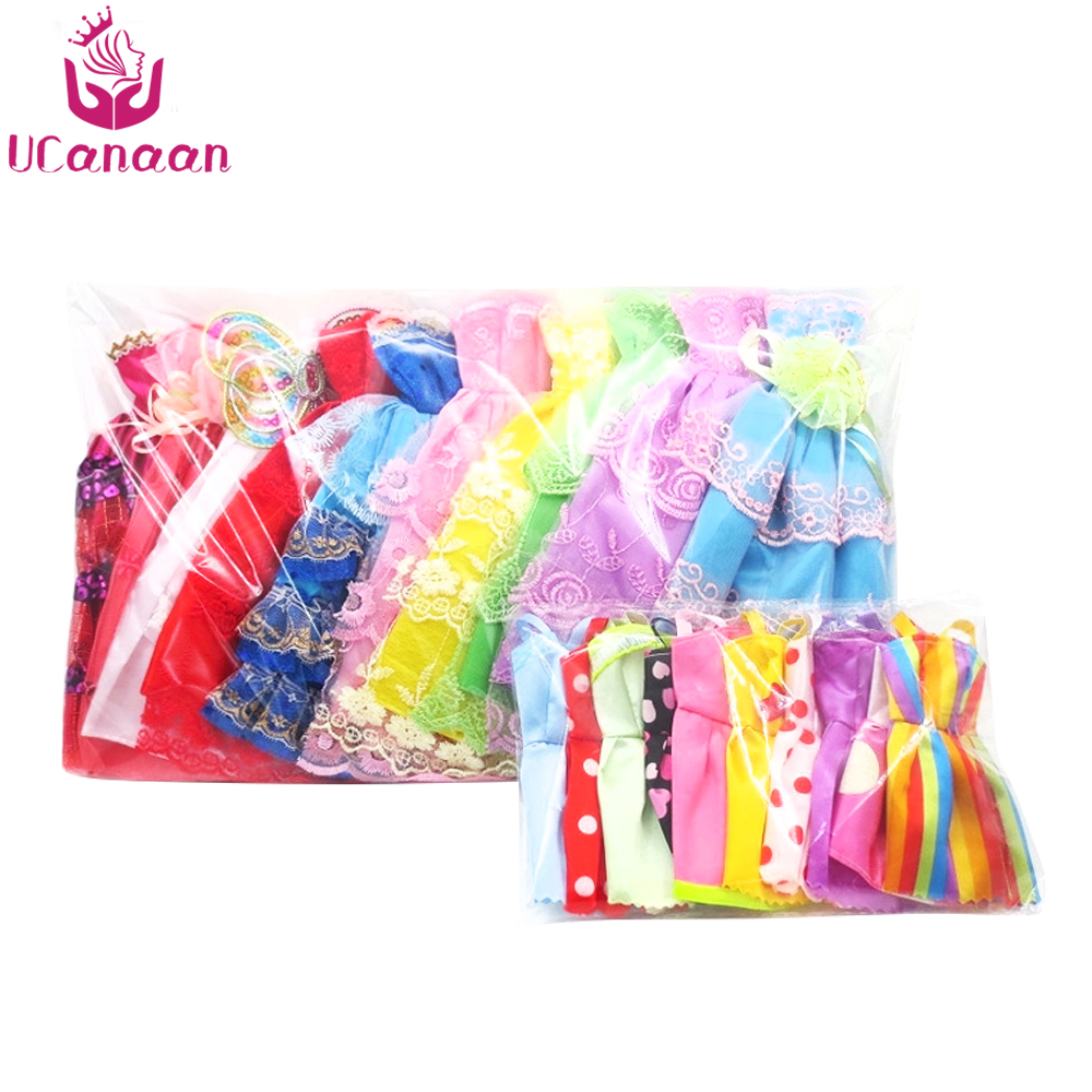 Random-12-Mix-Sorts-Beautiful-Handmade-Party-Dress-Fashion-Clothes-For-Barbie-Doll-Kids-Toys-Gift-Play-House-Dressing-Up-Costume-5