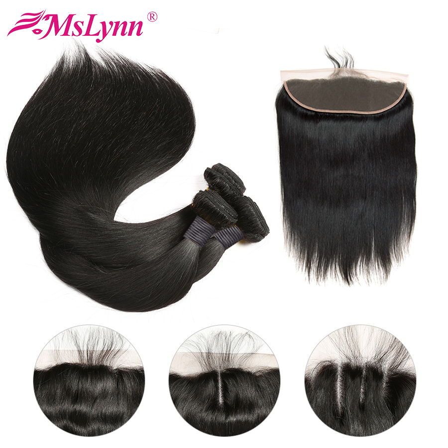 Straight Hair Bundles With Closure Human Hair Bundles With Frontal Closure Brazilian Hair Weave Bundles With