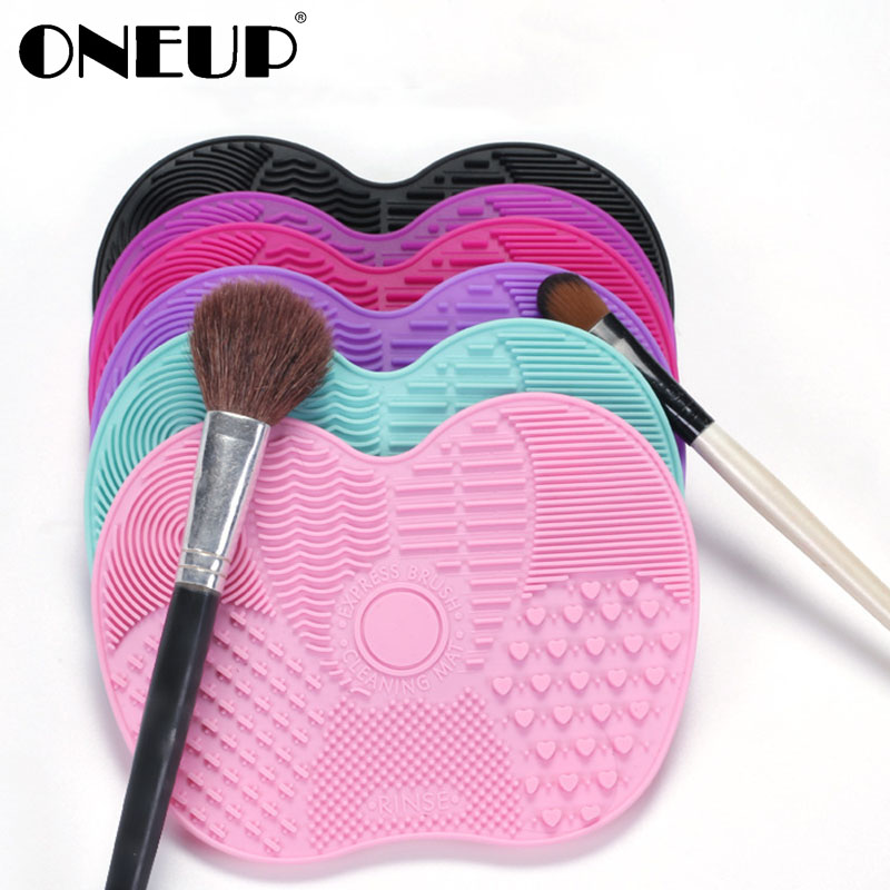 ONEUP Magic Silicone Brush Cleaner Cosmetic Makeup Washing Brush Eyebrow Brushes Cleaning Pad Scrubber Board Makeup Clean Tool(China)