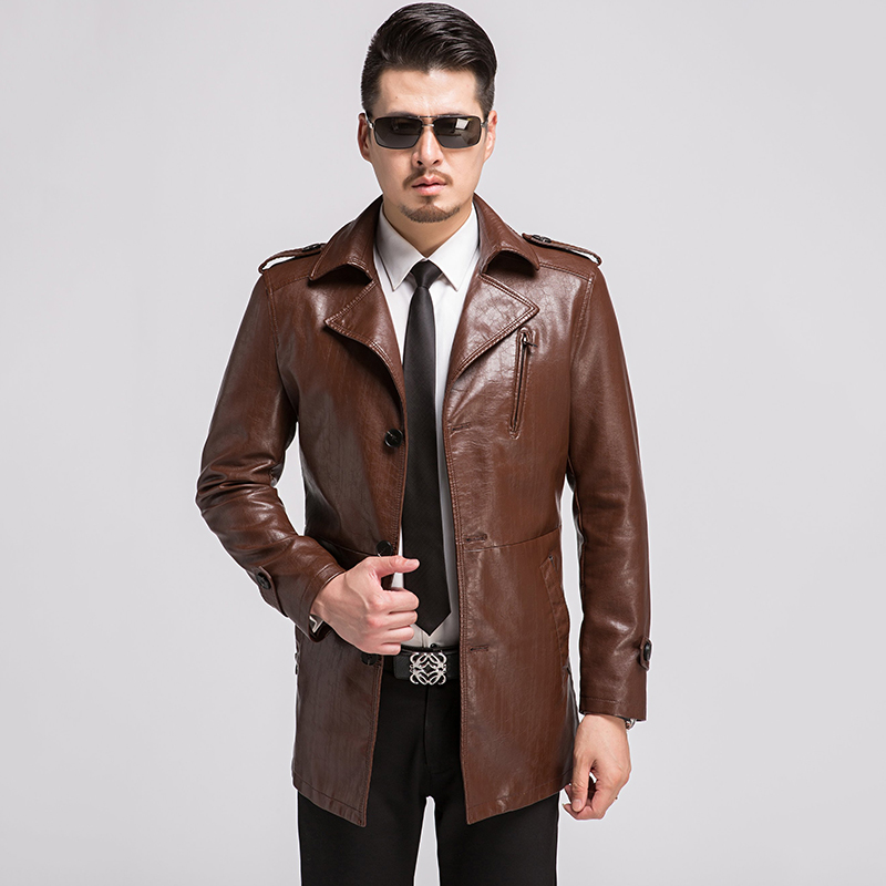 Popular Brown Leather Jacket Men-Buy Cheap Brown Leather Jacket ...