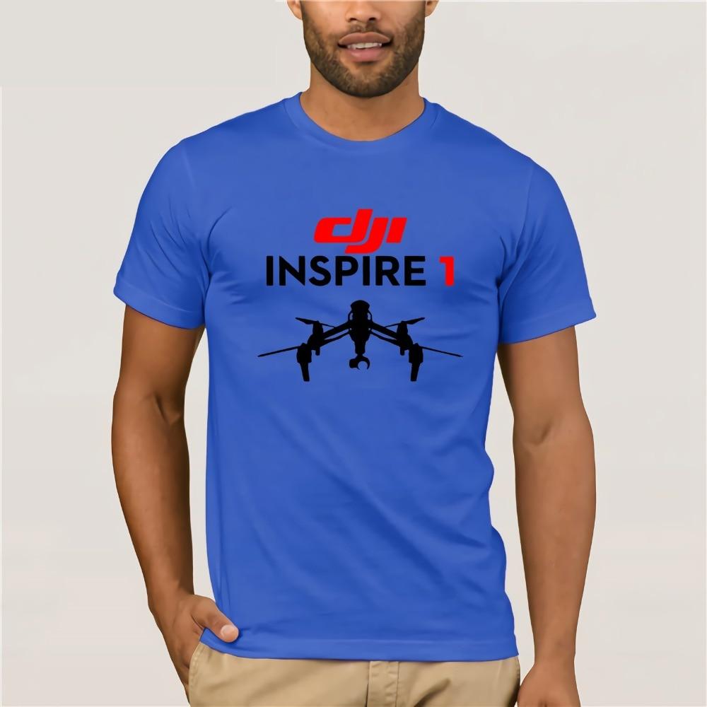 Mens T-shirts DJI Pilot Drone Classic Professional Pilot UAV Inspire dji Phantom 3 Drone T Shirts Short Sleeve Tshirt Best Price