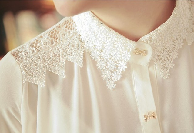 Aliexpress.com : Buy New Long Sleeve Chiffon Button Down Shirt ...