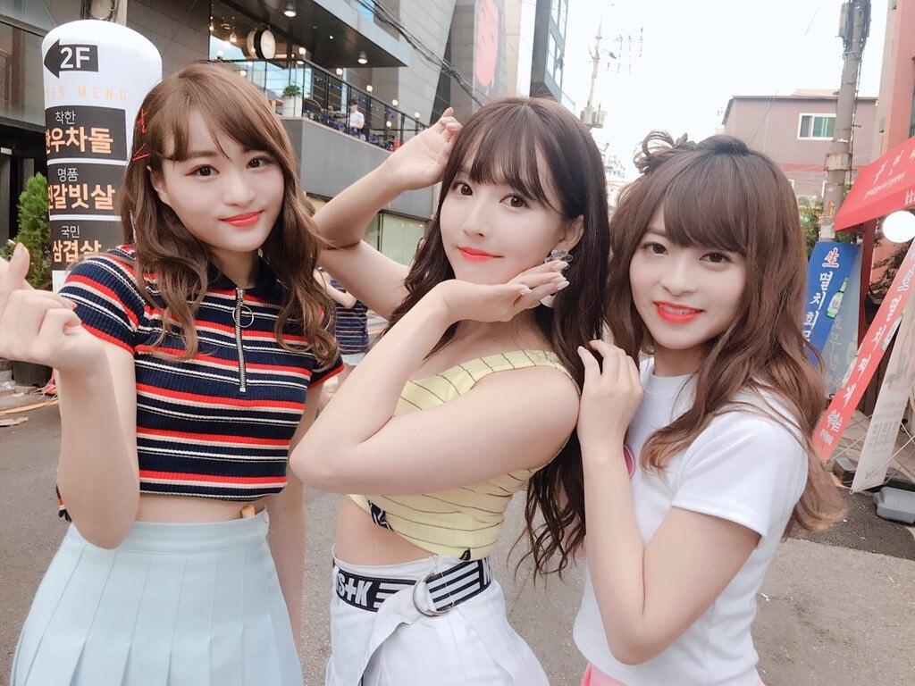 艾薇天后三上悠亚领衔偶像新女团HONEY POPCORN 在韩国专辑发布会表演Bibidi Babidi Boo