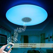 RGB Dimmable APP 24 W Musique LED plafonnier avec Bluetooth contrôle Changement de Couleur D'éclairage led plafond lampe pour Romantique partie