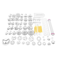 68Pcs Delicious Fondant Cake Decorating Modelling Tools Set DIY Sugarcraft Cake Decorating Fondant Cutters Tools Set