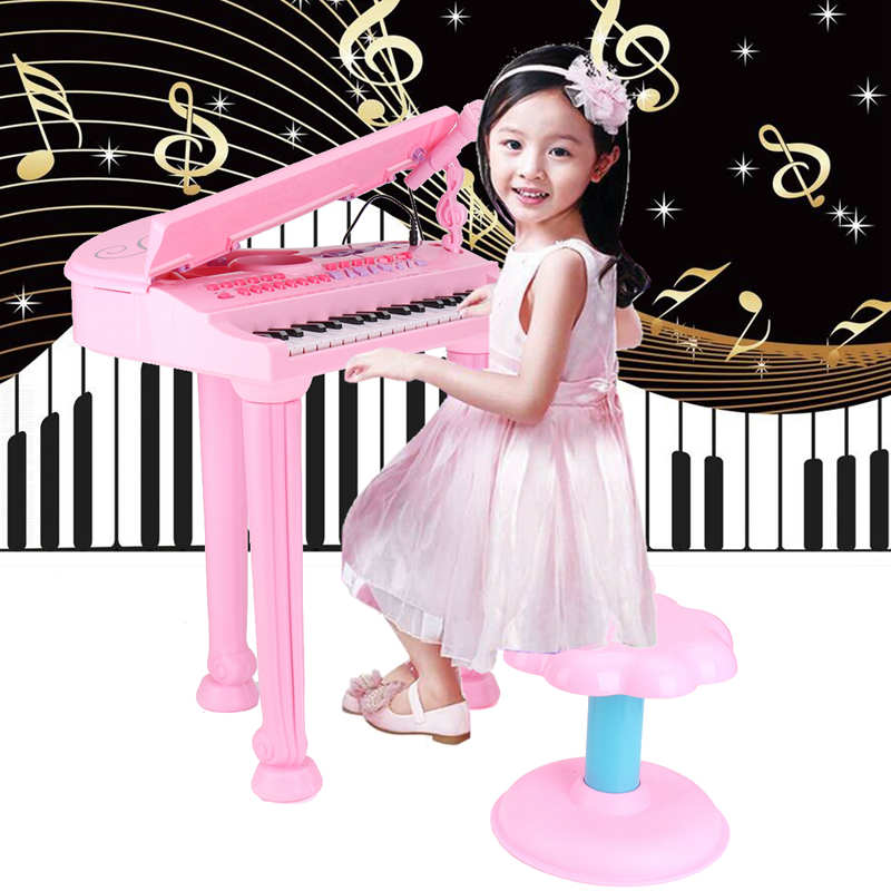 цены Kids Electronic Grand Keyboard Piano Musical Instrument Keyboard Organ Toy Microphone Educational Toys Gift For Children