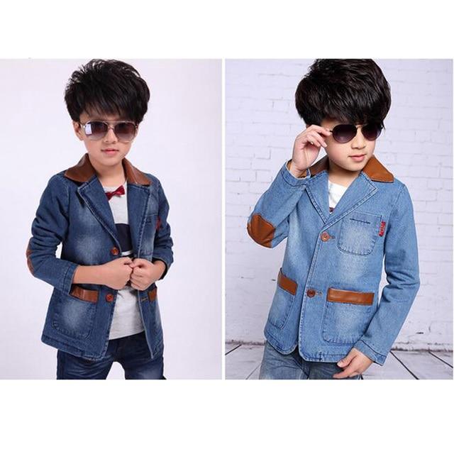 f4f8ffd3 US $20.96 20% OFF Nowy przystojny chłopcy kurtka płaszcz ubrania dla dzieci  wiosna i jesień chłopcy marynarka moda chłopcy Denim płaszcz dla ...