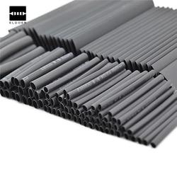 Neue Heiße 127 PCS 7,28 m Schwarz 2:1 Sortiment Schrumpf Schläuche Rohr Auto Kabel Sleeving Wrap Draht Kit Nützlich elektrische Schläuche