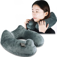 Convenient Travel Inflatable Headrest Pillow for Airplane Car Trains Office Rest Car Neck Cushion Headrest Seat Head Neck Pillow