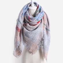 Brand new winter Very thick scarf lady cashmere Soft warm square scarf fashion tassel blanket shawl Wrap For Women 6 color