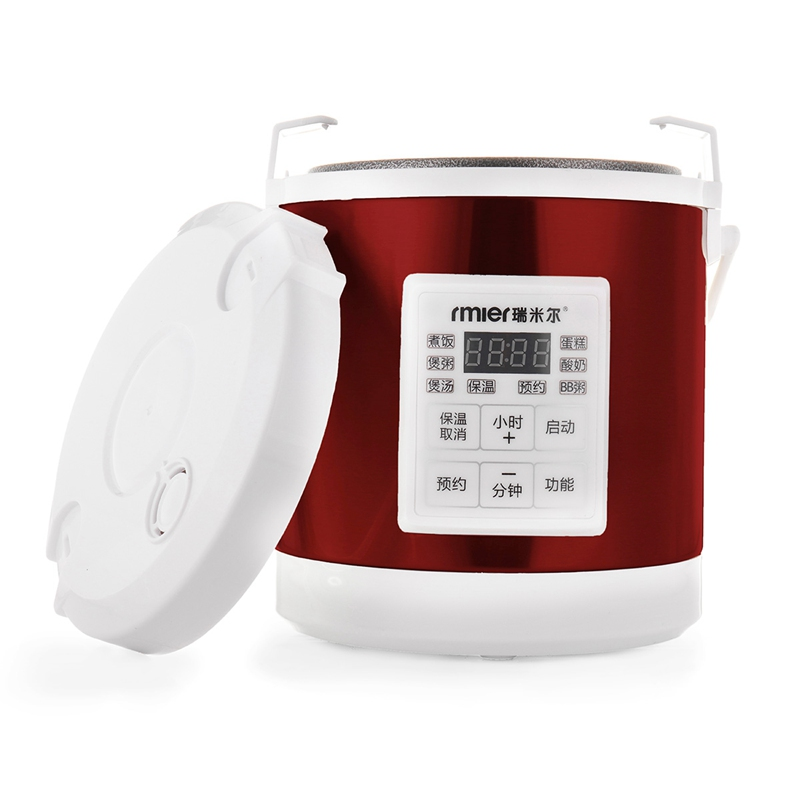 1.6L Rice Cooker 220V 280W Digital Display Timing Touch Control Portable Multi-function Cooking Soup Cake Porridge Travel Home 220v 600w 1 2l portable multi cooker mini electric hot pot stainless steel inner electric cooker with steam lattice for students