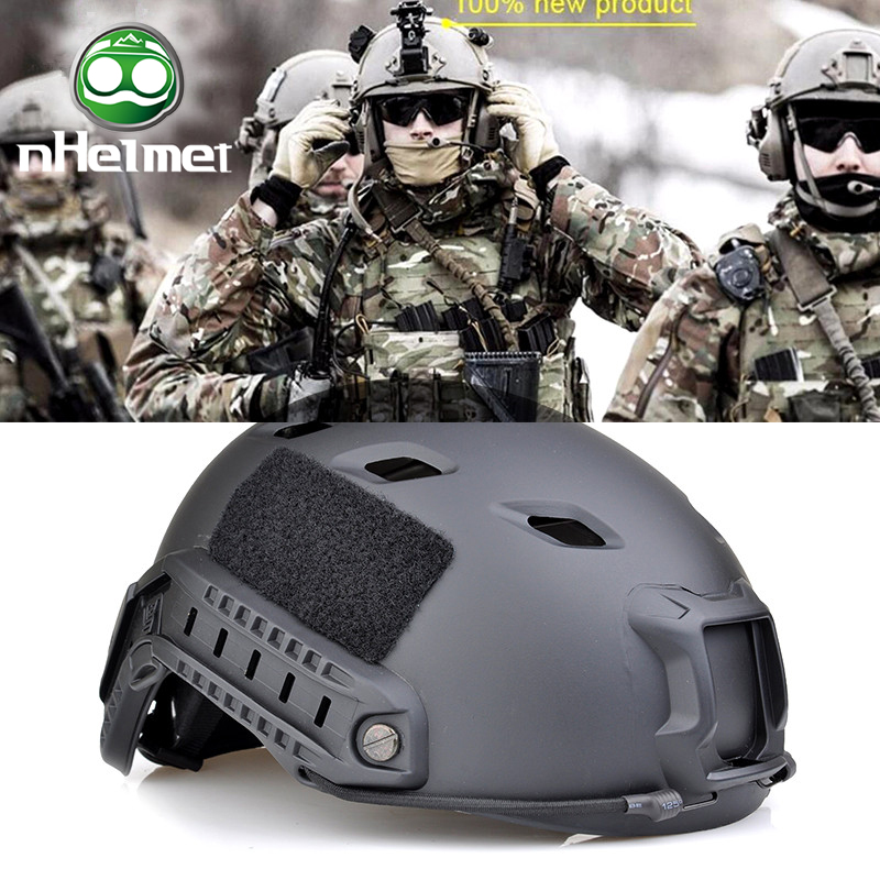nHelmet Army Military Tactical Fast Helmet BJ Airsoft Helmet Sports Accessories Paintball Fast Jumping Protective Goggle NH01003 tactical army military helmet cover casco airsoft helmet accessories face mask helmet emerson paintball fast jumping protective