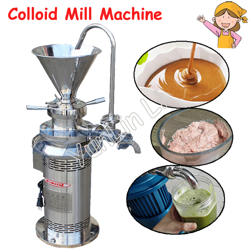 Colloid Mill Grinder Sesame Colloid Peanut Butter Maker Soybean Grinding Machine Coating Grinding Machine JML80 peanut butter maker machine grinding machine with motor peanut butter machine