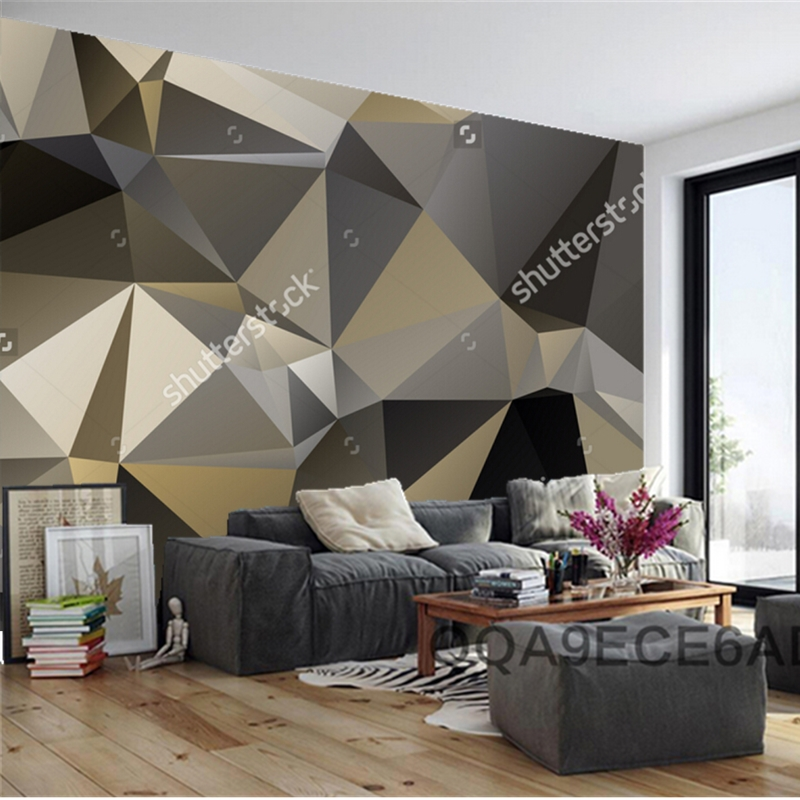 Perfect Modern Wallpaper,Mosaic Triangle,3D Geometric Patterns For Living Room Sofa  Restaurant Background Wall Vinyl Wallpaper In Wallpapers From Home  Improvement ...