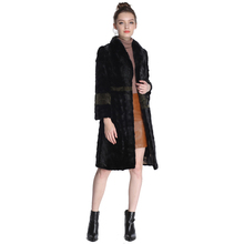 2017 Mink Fur Coat Female Natural Fur Coats New Design Parka Real fur coat 100CM honorable waistcoat Women`s Genuine Fur Coat