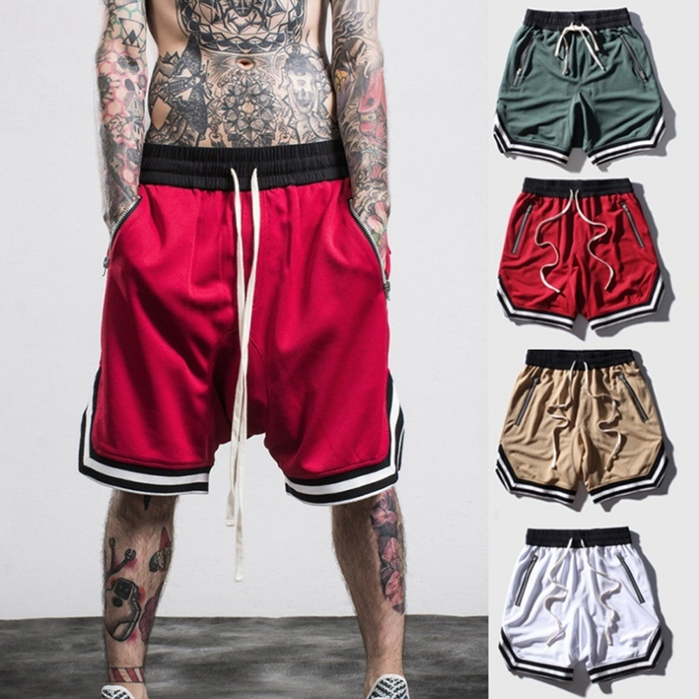 ZOGAA Shorts Mens Bodybuilding Breathable Fast Dry Boardshorts Joggers Knee Length Sweatpants Male Fitness Workout Beach Short