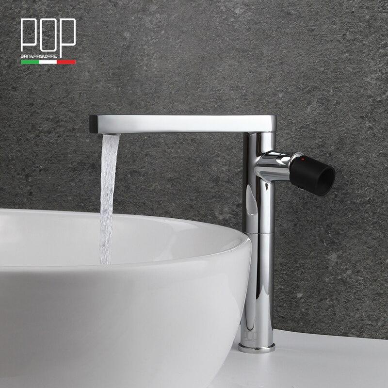 € 89.48 |POP Marque nouveau design Salle De Bains de lavage Bassin  mitigeur, mat noir, rose d\'or En Laiton chromé Salle De Bains art bassin  robinet ...