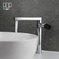 Free Shipping Heightened Washing Basin Faucets Hot Cold Mixer Bathroom Brass Basin Tap