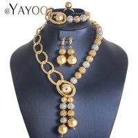 AYAYOO African Beads Jewelry Sets Women Jewelry Set Gold Color Ethiopian Nigerian Necklace Wedding Vintage Turkish Jewelry Set